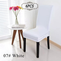 Frete Grátis 6PC / Lot Chair Cover Dining Room Cheap Spandex Lycra Banquet Chair Covers Cap para o Hotel Restaurant China Chair Covers Wholesale