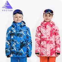Wholesale Girls S Jackets - Wholesale- VECTOR Professional Child Ski Jackets Winter Warm Waterproof Boys Girls Jackets Outdoor Sport Snow Skiing Snowboarding Clothing