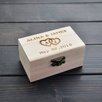 Wholesale Personalized Ring Holder - Rustic Wedding Ring Bearer Box, Personalized Ring Box, Wooden Ring Holder Box, Wedding Decor Customized Wedding Gifts