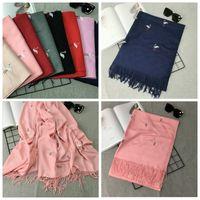 Wholesale Bird Wrap - Flamingo Bird Embroidery Women Cashmere Scarf Luxury brand designer scarf Hot crane Long Shawl Winter warm scarves pashmina 50 PCS YYA446