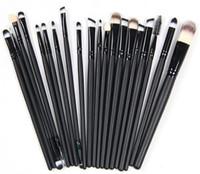 différentes couleurs de sourcils achat en gros de-1set (20pcs) / lot Maquillage des yeux Brow Brush Brush Synthetic Duo Maquillage Brush Double Sourcils Brush Head Brosses