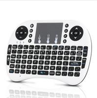 mini dizüstü bilgisayar satışı toptan satış-Mini Rii i8 Kablosuz Klavye 2.4G İngilizce Sürüm pil Akıllı Android TV Kutusu için Hava Fare Klavye Uzaktan Kumanda Touchpad Dizüstü satış
