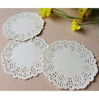 Wholesale white paper doilies - Easy To Use 11.5inch Round Paper Lace Doilies for Party Tableware Decoration,Pack of 100