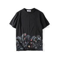 Wholesale Short Gorilla Neck - 2017 summer Gorilla baboon print t shirts for men and women cotton short sleeves tops couple tees o-neck women's clothing