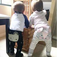 Wholesale Cats Harem Pants - Cartoon Baby Long Pants Autumn INS Infant Trousers 2017 New Toddler Haren Pants Cat Deer Bear Children Trousers C1781
