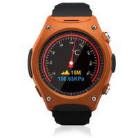 Wholesale Pressure Altimeter - SF12 Heart Monitor Smartwatches Round Screen MTK2502 Pedometer Altimeter Air Pressure Temperature Sleep Rubber Strap Exchangeable Waterproof