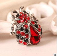 Wholesale Dress Eastern - The new hot brooch Ladybug diamond brooches Men and women suits dress accessories one color shipping free