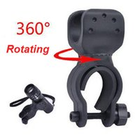 Bicyclette Grip Mount 360 Degree Rotating Bike Clamp Clip Bicyclette Support de lampe de poche Porte-lumière Porte-torche