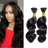 Wholesale natural products for curly hair for sale - Group buy 3pcs Human Braiding Hair Bulk A Brazilian Loose Wave Bulk For Braiding Loose Curly Human Braiding Hair Bulk Hair Products