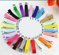 "Wholesale Grossgrain Ribbons Bows - 240pcs lot 1.8"" Grossgrain Ribbon Alligator Clip Lined Clips Single Pronged Alligator Clips Hair Accessories FJ3206"