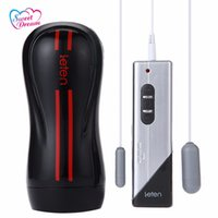 Wholesale Hands Free Electric Pocket Pussy - Leten 3 Dual Engine 10 Modes Vibration Artificial Vagina Electric Masturbator Male Hands Free Strong Sucker Men Sex Toys BLM-060