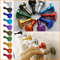 Wholesale Worldwide Hats - Aluminum DIY Towel Wall Hook, Bathroom Kitchen Clothes Key Hat Bag Hanger Rack Holder Wall Mounted Worldwide Store