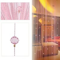 Wholesale Fringe String Curtain - Wholesale- 1* 2m Crystal Bead Fringe Curtain String Curtain Home Living Room Bedroom Decor