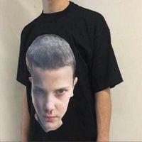 Wholesale Design T Shirt Boys - Summer New Design Tide Brand Men boy Head Print T-shirt Hip Hop Fashion Men Short Sleeve T Shirt High Quality