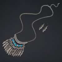 Wholesale Chain Sets For Women - YFJEWE fashion silver plated blue crystal necklace party accessories rhinestone chain necklaces earring set for women #N113