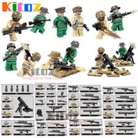 Wholesale World War Ii Military - Kitoz MOC 12pcs World War II USA Army Special Forces Mini Toy Action Figures with Mortar Military Building Blocks Bricks Gift Toy for Boy