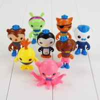 Preço barato 8pcs / Lot Cartoon Octonauts capitão Barnacles kwazii Peso Shellington Dashi PVC Figure Toy