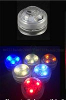 Wholesale Mini Candle Light Bulb - Super Bright 3LED Submersible Light LED Floralyte Waterproof LED Candle light Mini Party Light For Wedding Events Decoration MYY