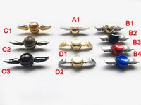 Wholesale Copper Fingers - New arrival Hand Spinner Harry Potter Golden Snitch Fidget Spinners Rainbow Metal Copper Cupid Angel Wing Decompression Toy finger Gyro