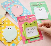 Wholesale Post Note Pads Design - Wholesale- 1pcs Lot New Funny Cute Cartoon Animal design Notepad sticky memo pad Paper sticky note sticker message post
