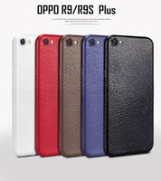 Wholesale Thin Leather Bumper - Ultral Thin Leather Case TPU Case for Goophone I7 goophone S8 Oppo R9 R9 Plus R9S R9S plus Protective Bumper Cover