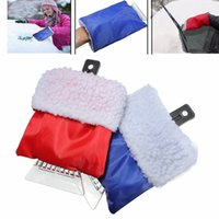 Wholesale Ice Removal Tools - Car Snow Ice Shovel Scraper With Lined Glove Removal Clean Tool Warm Gloves Car Ice Scraper Waterproof Gloves Snow Shovel Gloves
