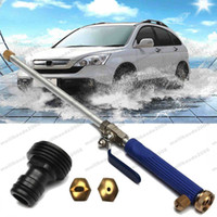 Wholesale hose jet - 2017 High Pressure Hose Nozzle Power Car Washer Garden Watering Spray Nozzle Water Spray Gun Water Jet Hose Wand Cleaning Tool MYY