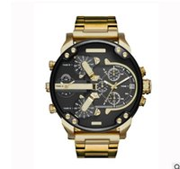Wholesale Wholesale Luxury Watches For Men - 2017 Sport Mens Watches Big Dial Display Top Brand Luxury watch Quartz Watch Steel Band 7333 Fashion Wristwatches For Men Free Shipping