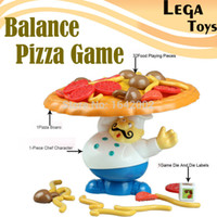 Wholesale Fun Educational Board Games - Wholesale-Pile-Up Game Incline Interactive Balance Board Game Pizza Kids Children Great educational novelty Family Fun toys for children