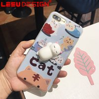 Wholesale Iphone Pouch Korean - 2017 3d cute cartoon phone case for iphone cute korean iphone case for stress relieving free shipment