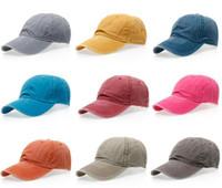 Wholesale Vintage Men Baseball Caps - New Brand Fashion Women Baseball Cap Men Casquette Snapback Caps Hats For Men Bone Vintage solid Adjustable Caps aa355