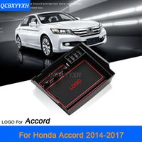 Wholesale Console Decorations - For Honda Accord 2014-2017 LHD Car Center Console Armrest Storage Box Covers Interior Decoration Auto Accessories