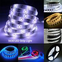Wholesale Wholesale Led 12v 18w - SMD5630 Led Strips Lights High Bright DC12V Strips RGB 60led m 5m roll led Lights Strips for decoration