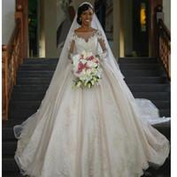 best muslim high neck wedding dress - Princess Wedding Dresses Vestido De Noiva Manga Comprida 2017 Elegant Long Sleeve Wedding Dress Free Shipping