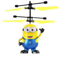 Wholesale Minion Items - Novelty items minions sensor aircraft luminous electric kid toys fly novelty toys