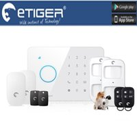 Wholesale Intruder Burglar Alarms - LS111- IOS & Android Intruder Burglar eTiger alarm ES-S3B GSM SMS alarm system For Home Office Factory
