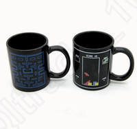 Wholesale Heat Sensitive Ceramic - Color Changing Cups Pac Man Game Ceramic Coffee Cup Tea Milk Hot Cold Heat Sensitive Temperature Change Mug Cup OOA1195