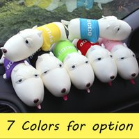 Wholesale Dog doll car deodorant bamboo charcoal bag purify auto air freshener lessen radiation indoor decoration toys