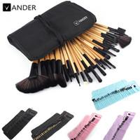 Wholesale black up lipstick resale online - Vander Set Professional Makeup Brush Foundation Eye Shadows Lipsticks Powder Make Up Brushes Tools Bag Pincel Maquiagem