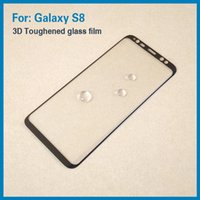 Wholesale High Quality Tempered Glass D Curved Full Coverage For Samaung Galaxy S8 S8 plus Colorful And Full Clear Transparent