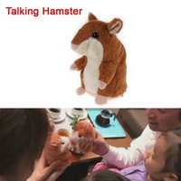 Wholesale Toy Speaking Hamster Wholesale - Wholesale-2016 New Lovely Talking Hamster Plush Toy Kids Speak Talking Sound Record Educational Toy Talking Toys for Children Baby Gifts