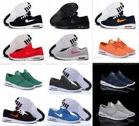 Wholesale Men Cheap Walking Shoes - 2017 Cheap Men Women Air Fashion SB Stefan Janoski Running Shoes Black Grey Athletic Walking Sports Shoes Sneakers Shoes Size 36-45