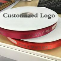 Wholesale Custom Wrapping Paper Wholesale - Custom Logo DIY satin ribbon belt flat font 3D printing Iron Gold Wedding & Personalized Gift wrap Package