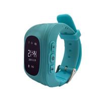 цифровые часы оптовых-Q50 GPS Tracker дети Smart Watch SOS вызова Location Finder трекеры дети анти потерянный монитор Kid smart Watch носимых устройств 1 шт.