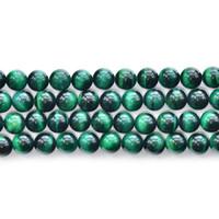 Wholesale Loose Tiger Eye Beads - High quality Natural Stone green tiger eye stone Round Loose strand Beads 6 8 10 12mm Jewelry Making Bracelet Diy beads