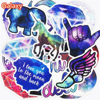 Wholesale Vinyl Stickers Phone - Hot Sale 50 Pcs Galaxy Stickers Mixed Toy Cartoon Skateboard Luggage Vinyl Decals Laptop Phone Car Styling Bike JDM DIY Sticker