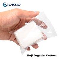 Wholesale E Cig Bags - Wholesale-8pcs bag Original Muji Organic Cotton For RDA RBA Atomizer e cig DIY Organic Cotton