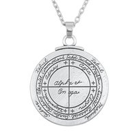 Wholesale Initial Seals - Talisman Key of Solomon Pentacle Seal Pendant Hermetic Enochian Kabbalah Pagan Wiccan Jewelry Link Necklace or Rope Necklace