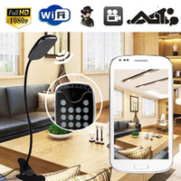 Wholesale Day Night Camera Recorder - HD 1080P Wifi IP Remote Intelligent Table Lamp Spy Hidden Camera Video Recorder Mini DV DVR WI-FI Camera Desk Lamp