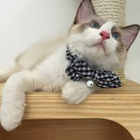 Pet chat collier Bell col design de mode chiffon Bell manchette collier veilleuses multi couleur en option